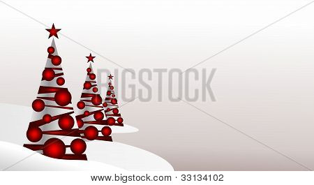 Christmas trees with place for your text