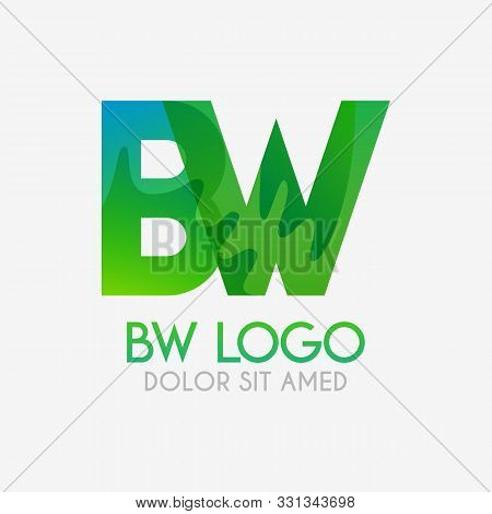 The Bw Logo With Striking Colors And Gradations, Modern And Simple For Industrial, Retail, Business,
