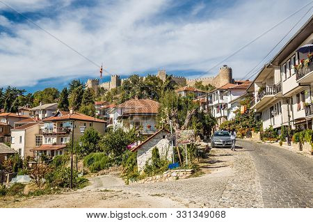 The Fortress Of Tsar Samuel And Traditional Building - Ohrid, Macedonia, Europe
