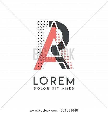 Ra Modern Logo Design With Gray And Pink Color That Can Be Used For Creative Business And Advertisin