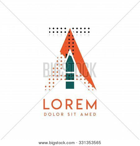 Ta Modern Logo Design With Orange And Green Color That Can Be Used For Creative Business And Adverti