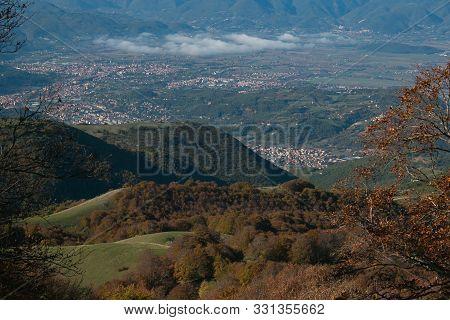 Aerial View Of Rieti City In The Autumn Season, Lazio, Italy