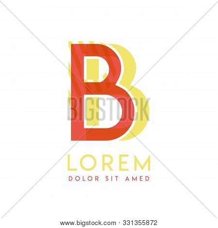 Bb Colorful Logo Design With Pink Orange And Gray Color That Can Be Used For Creative Business And A