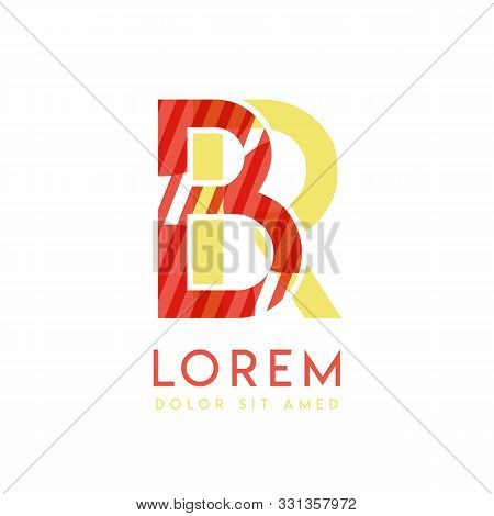 Rb Colorful Logo Design With Pink Orange And Gray Color That Can Be Used For Creative Business And A