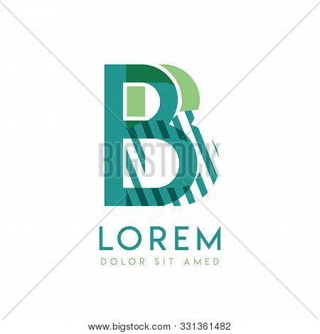 Bb Luxury Logo Design With Green And Dark Green Color That Can Be Used For Creative Business And Adv