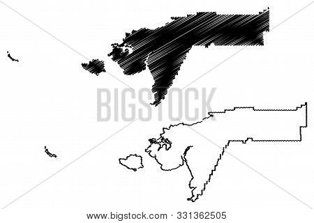 Bethel Census Area, Alaska (Boroughs and census areas in Alaska, United States of America,USA, U.S., US) map vector illustration, scribble sketch Bethel map poster