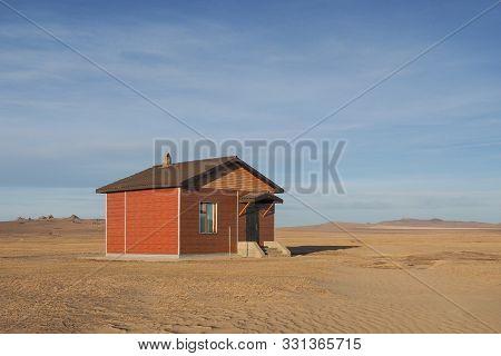 Minimal House In A Desert