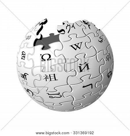 Vector Icon Of Wikipedia, The Largest Multilingual Online Encyclopedia.