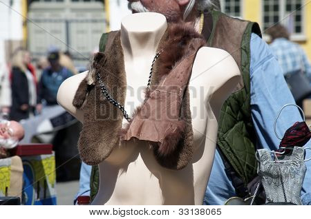 mannequin at a flea market