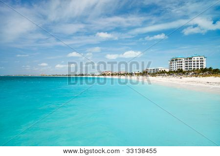 World best Grace bay beach at Providenciales on Turks and Caicos islands poster