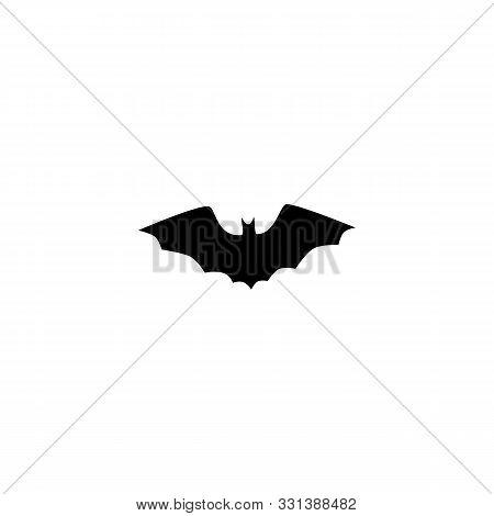 Bat On White Background. Vector Isolated Illustration.