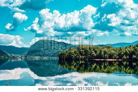 Scenery Of Bohinj Lake Slovenia Nature In Slovenija
