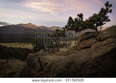 Longs Peak Morning In Rocky Mountain National Park