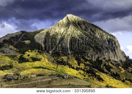 Mt Crested Butte On A Fall Evening