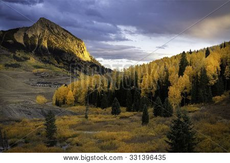 Fall Sunset On Mt Crested Butte
