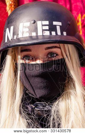 Kyiv, Ukraine - September 22, 2019. Comic Con Ukraine. Neet At Comics Festival. Cosplayers In Costum