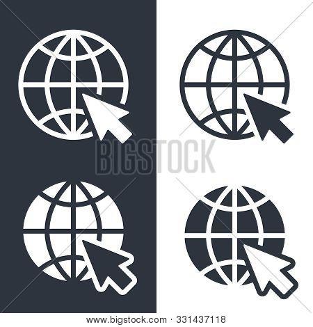 Web Icons Set. Website Pictograms. Internet Symbols Isolated On White Background. Flat Style. Vector