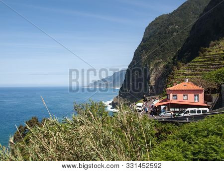 View Of The Northern Coastline Of Madeira, Portugal,