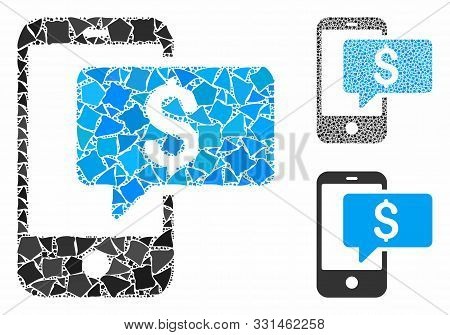 Money Phone Sms Composition Of Bumpy Parts In Variable Sizes And Shades, Based On Money Phone Sms Ic