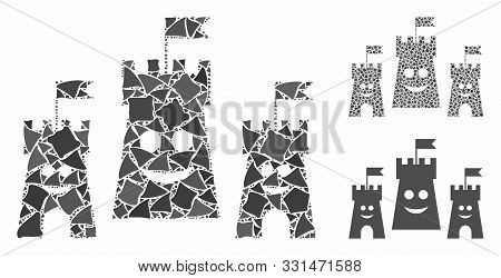 Happy Bulwark Mosaic Of Rugged Elements In Different Sizes And Color Tones, Based On Happy Bulwark I