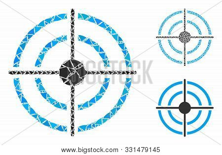 Target Composition Of Abrupt Items In Various Sizes And Color Tones, Based On Target Icon. Vector Ab