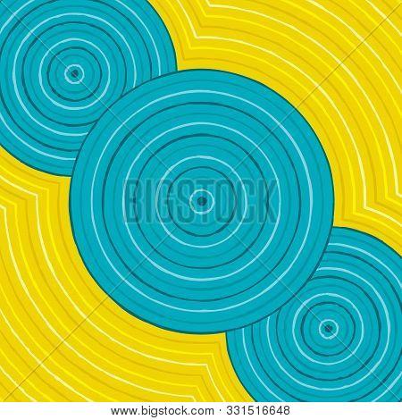 Riverbank Abstract Aboriginal Dot Painting In Vector Format