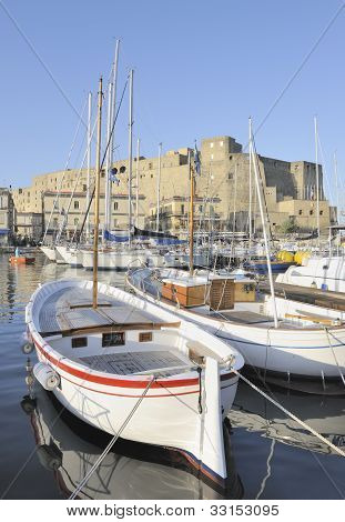 The beautiful harbor of Santa Lucia, Naples