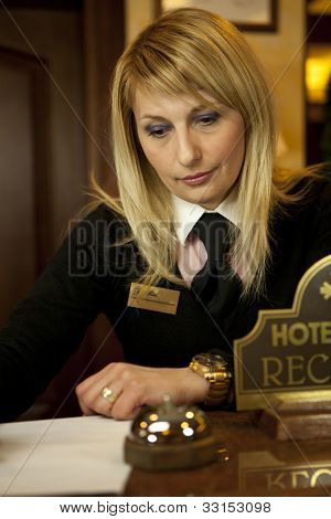 Young Woman Hotel Receptionist