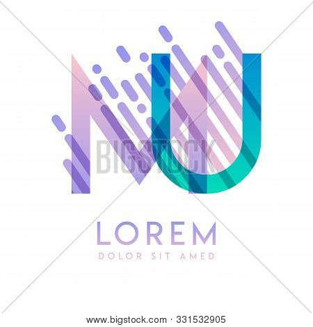 Mu Logo With The Theme Of Galaxy Speed And Style That Is Suitable For Creative And Business Industri