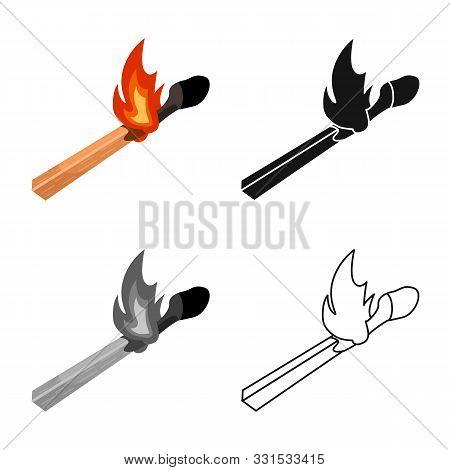 Vector Design Of Matchstick And Match Symbol. Web Element Of Matchstick And Fire Stock Vector Illust