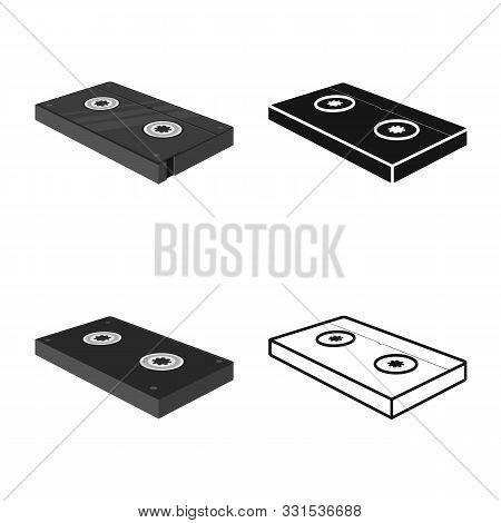 Vector Design Of Videotape And Cassette Symbol. Graphic Of Videotape And Tape Stock Symbol For Web.