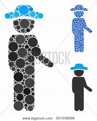 Gentleman Idler Composition Of Round Dots In Different Sizes And Color Hues, Based On Gentleman Idle