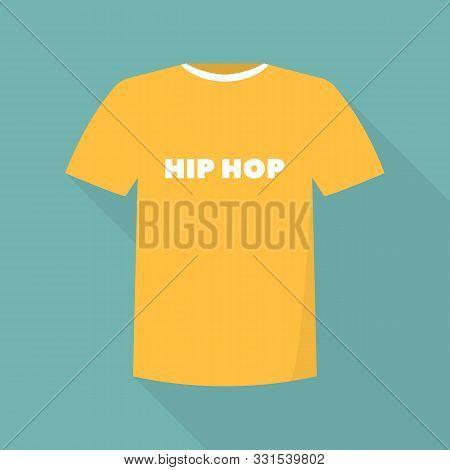 Hip Hop Tshirt Icon. Flat Illustration Of Hip Hop Tshirt Vector Icon For Web Design
