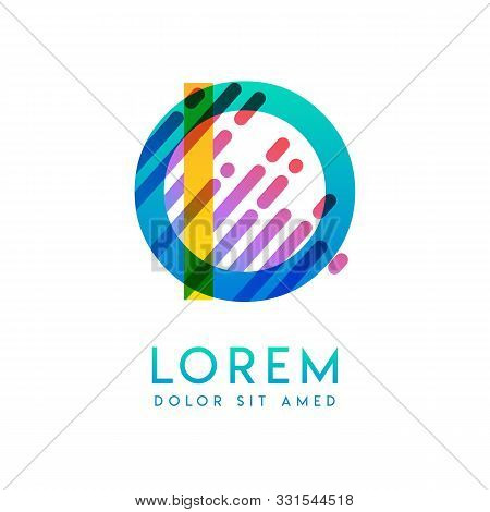 Io Logo With The Theme Of Galaxy Speed And Style That Is Suitable For Creative And Business Industri