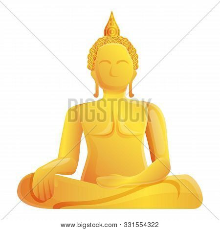 Wat Muang Buddha Icon. Cartoon Of Wat Muang Buddha Vector Icon For Web Design Isolated On White Back