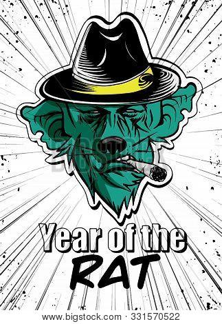 Rat Mascot Logo Vector ,chinese New Year 2020 Year Of The Rat,zo