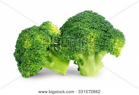 Healthy Brocoli Isolated On White Background Vibrant, Isolated, Single, Market, Nature, Fresh, Natur