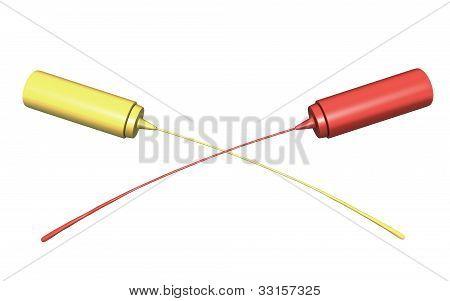 Ketchup And Mustard Crossing Streams
