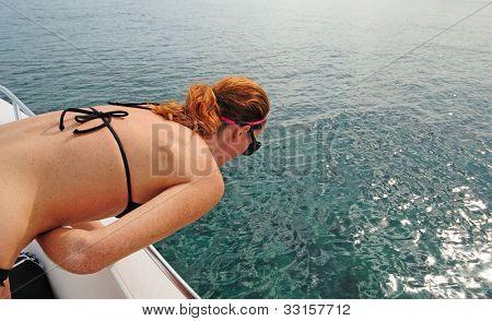 Woman Getting Seasick On Boat
