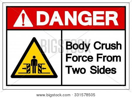 Danger Body Crush Force From Two Sides Symbol Sign, Vector Illustration, Isolate On White Background