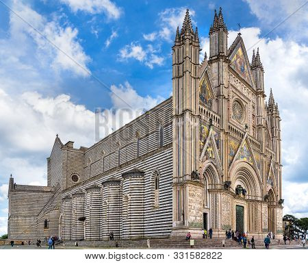 May, 17 2019. Orvieto, Italy. View Of The Orvieto Cathedral.
