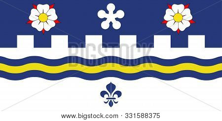 Flag Of Coquitlam Is A City In The Lower Mainland Of British Columbia, Canada. Vector Illustration