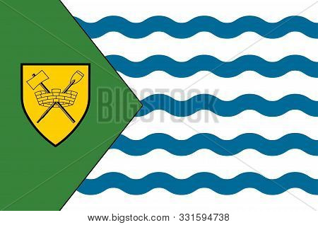 Flag Of Vancouver Is A Coastal Seaport City In Western Canada, Located In The Lower Mainland Region