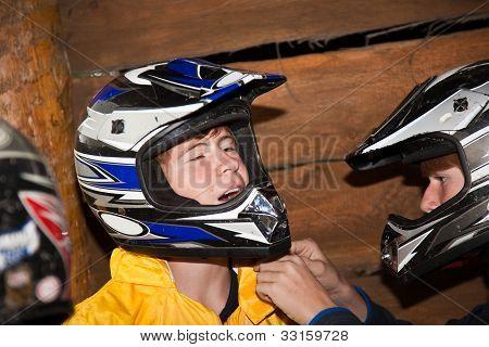 Boy Enjoys Quad Driving