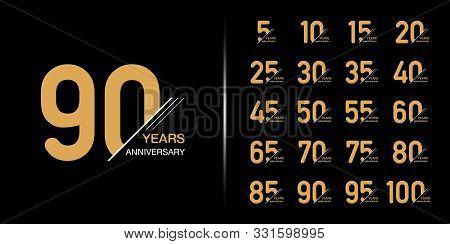 Anniversary, Celebration, Emblem, Set, Premium, Age, Event, Ceremony, Logotype, Birthday, Numbers, D