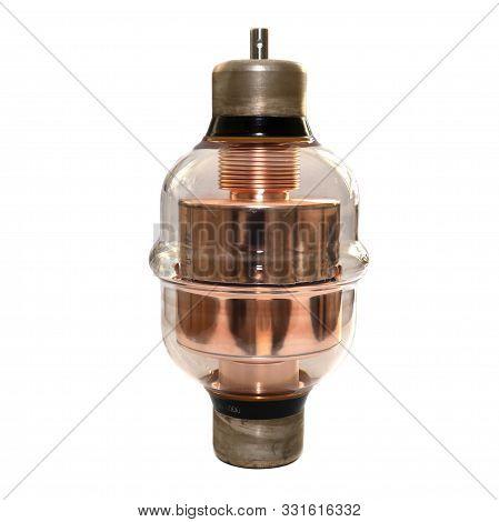 High Voltage Vacuum Capacitor. Glass Vacuum Capacitor Insulated Powerful. Large High-voltage Vacuum