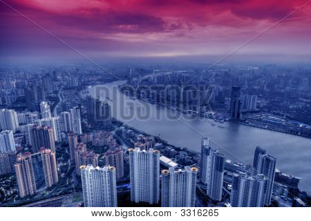 View Of Modern City Shanghai