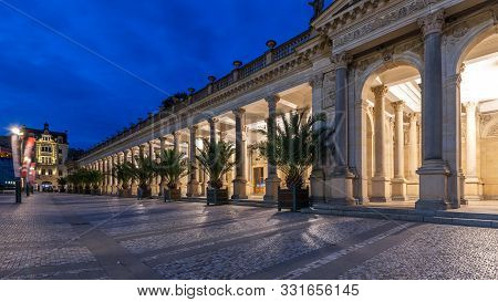 Mill Colonnade In The Spa Town Of Karlovy Vary