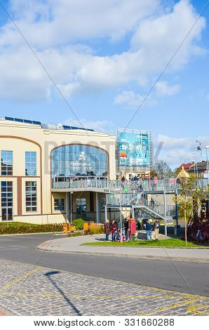Pilsen, Czechia - Oct 28, 2019: Areal Of Techmania Science Center In Plzen, Czech Republic. Exhibiti
