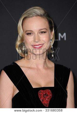 Brie Larson at the 2019 LACMA Art + Film Gala Presented By Gucci held at the LACMA in Los Angeles, USA on November 2, 2019.